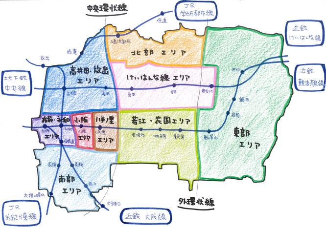 東大阪マップ,東大阪MAP,東大阪エリア表,東大阪地図,住家マップ,住家MAP