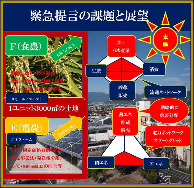 坂口光司の全国地方治自体に送る2014地方創生緊急提言>この緊急提言(FECS3000)は、今日の地方自治体、農村や農業が直面する喫緊の課題(自立、TPPへの対応)に取り組む、新しい農業(食農+電農:エネファーム)による解決策(起業の考え)を示したものです。