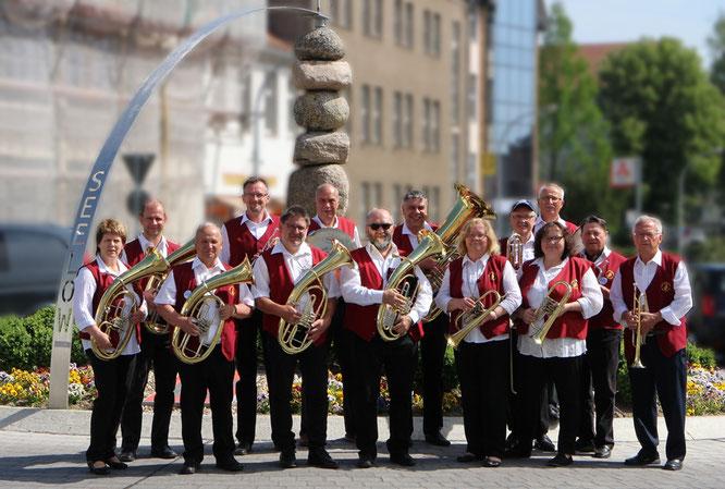 Die Oderbrucher Blasmusik zu Gast in der Kreisstadt Seelow
