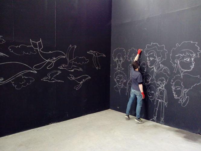 Michaël Camellini im Palais de Tokyo, Paris 2021.