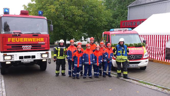 Fahrzeugweihe des neuen MTW der Abteilung Erlaheim