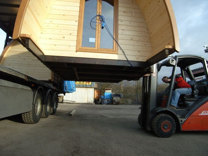 Base de nos mobil-homes en bois