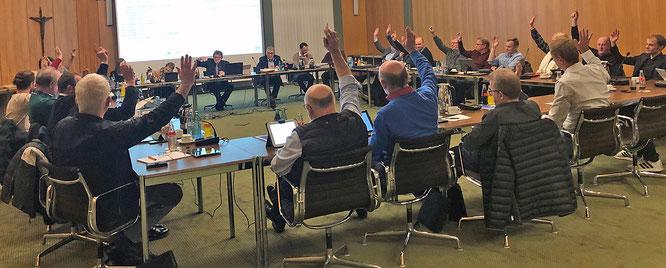 Einstimmige Annahme des Haushaltsplans für das Jahr 2020 im Recker Rat am 6. Februar