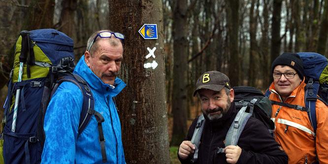 Spendenaktion Jakobsweg von Harald Finke, Karsten Klein und Elmar Herbold für Mission  Kongo e.V.