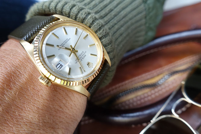 ROLEX DATEJUST YELLOW GOLD MAN IN TIME