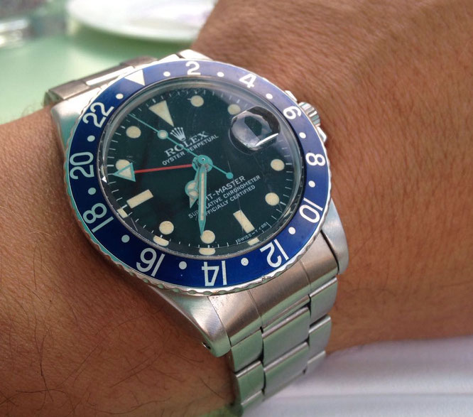 ROLEX GMT MASTER BLUEBERRY MAN IN TIME