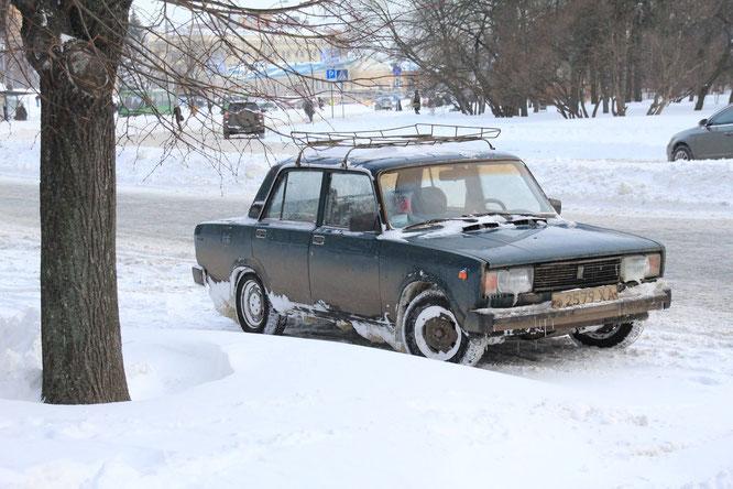 Nicht der erste Winter für diesen Lada