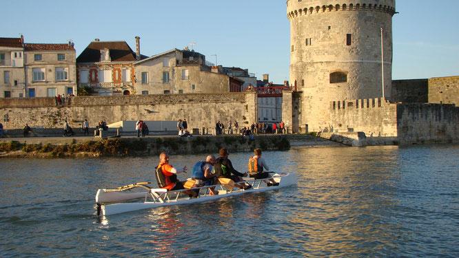 L'équipe Taho'e sur le port de La Rochelle