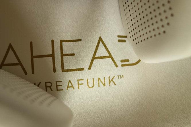 Bild: Kreafunk Kopfhörer mit Bluetooth in weiß-gold