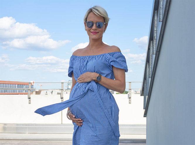 Bild: Kleid Zara blau-weiß gestreift, Schwangeren-/Umstands-Mode