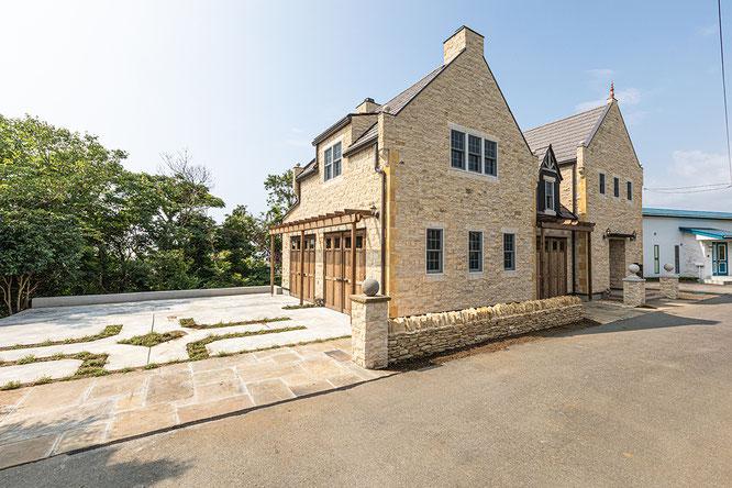 西洋デザイン住宅 ガレージハウス 建築パース