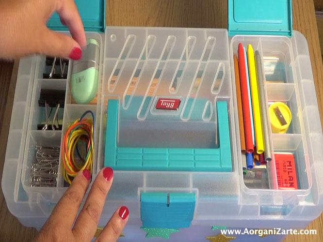 Los compartimentos permiten tener todo el material escolar organizado - AorganiZarte