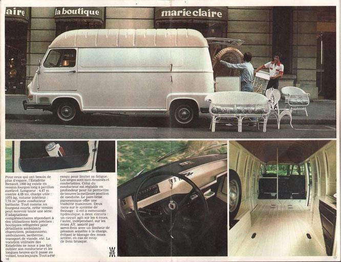 Extrait du catalogue Renault Utilitaires de 1978