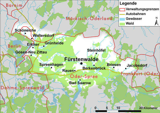 Karte: U. Postler / M. Thüring