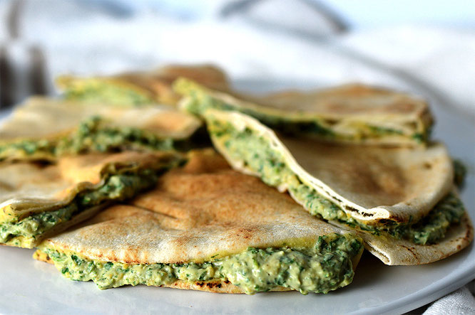 quesadillas veganas sin queso