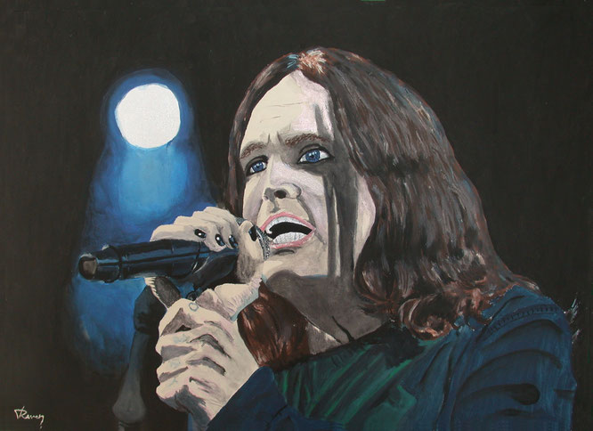 Ozzy Osbourne music Black Sabbath acrylic on canvas painting
