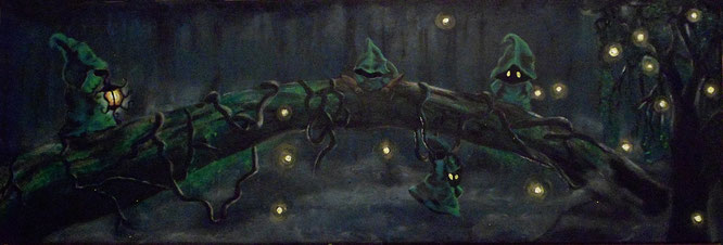 acrylic on canvas louisiana swamp magick magic green painting fantasy