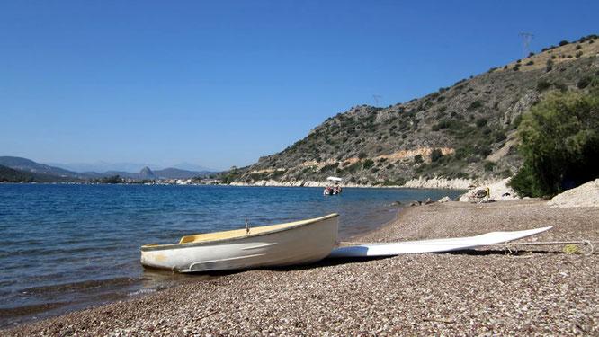 Strand von Lefka Beach Camping