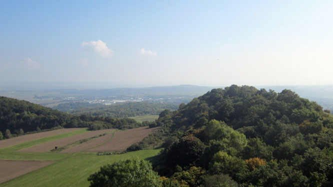 Blick auf die Eifeler Vulkanlandschaft