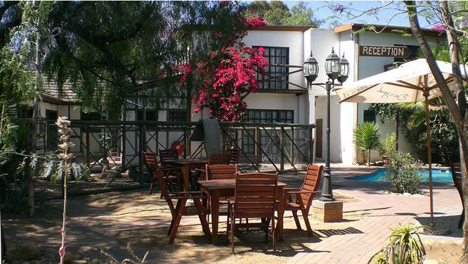 Innenbereich des Roof of Africa Hotels