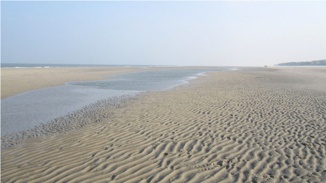 Rippel im Wattenmeer
