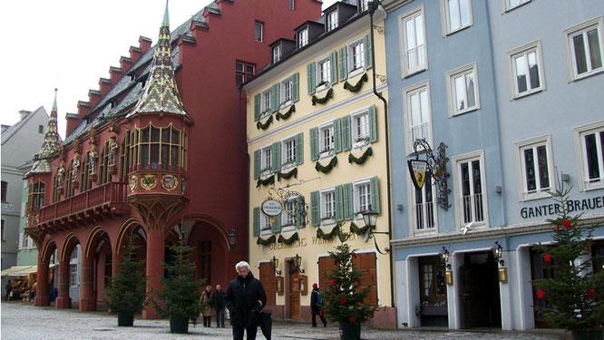 Häuserfassaden am Münsterplatz