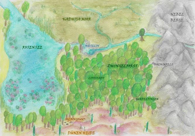 Abenteuerroman Liguster Zwingelwicht Landkarte