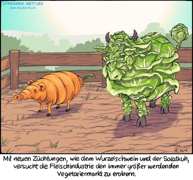 Cartoon von Frederik Mettjes