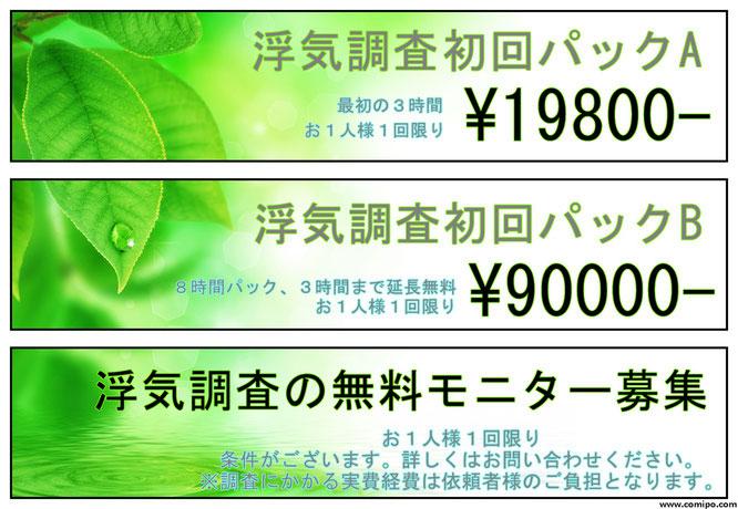 浮気調査の料金19800円