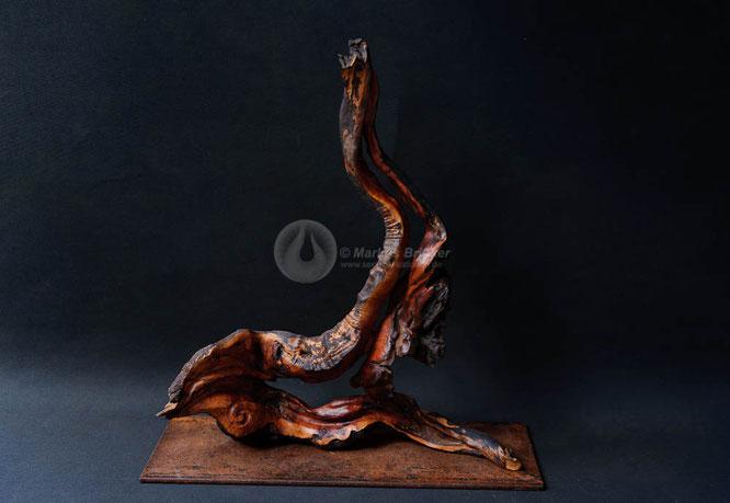 Holzskulptur Lava, Erika-Wurzelholz