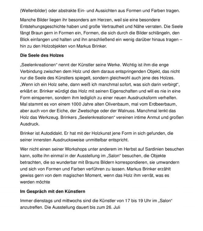 Pressebericht zur Ausstellung 5. Dimension in Mindelheim