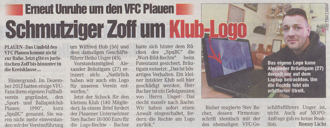 Chemnitzer Morgenpost vom 28.01.2015