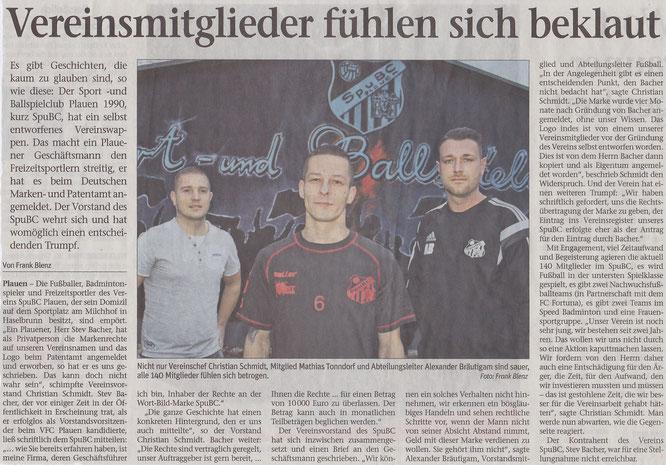 Vogtland-Anzeiger vom 14.01.2015