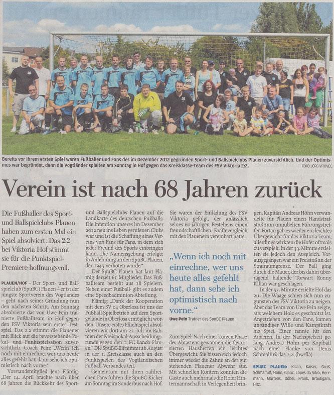Freie Presse vom 17.07.2013