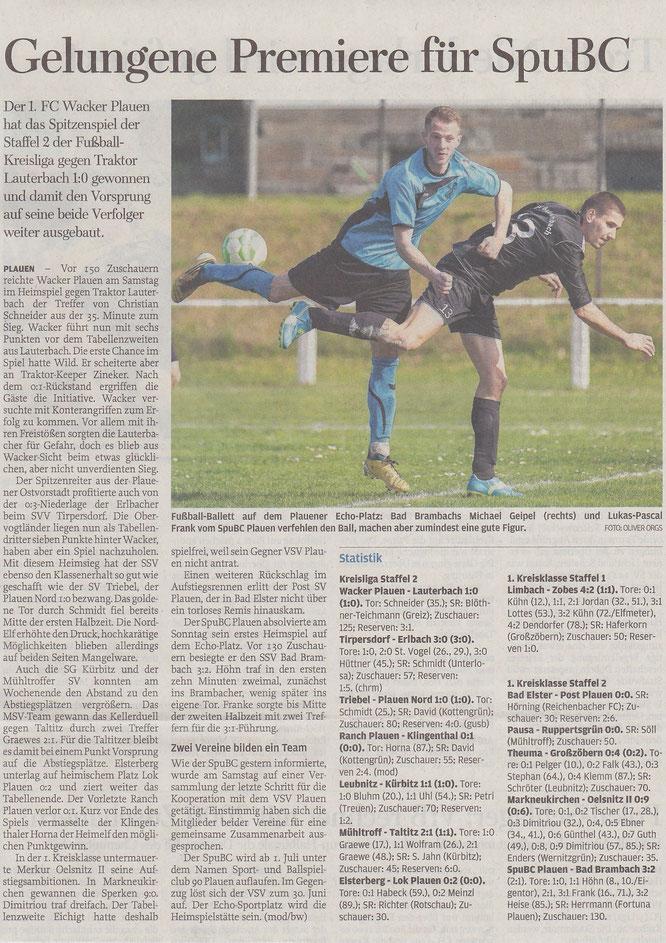 Freie Presse vom 08.04.2014
