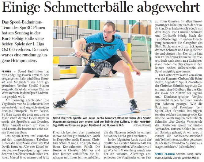 Freie Presse vom 03.06.2014
