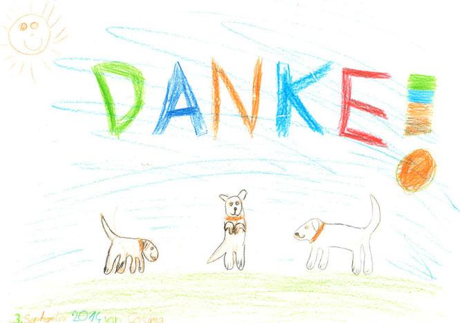 Dankeschön an die Hundeschule Bello Fantastico