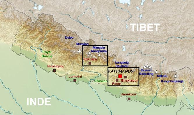 Trekking map - Annapurna