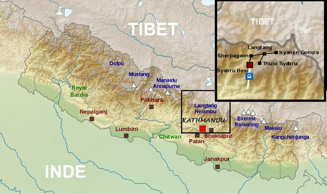 Plan du Népal