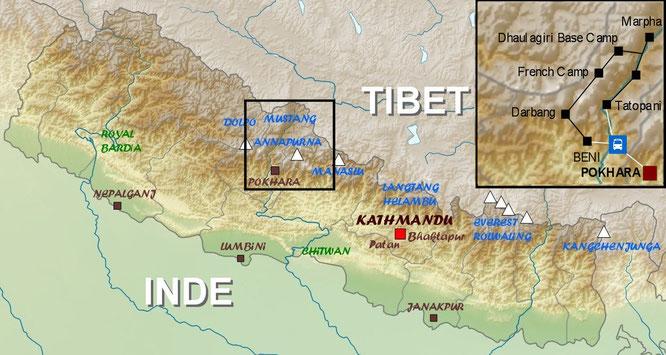 map Dhaulagiri