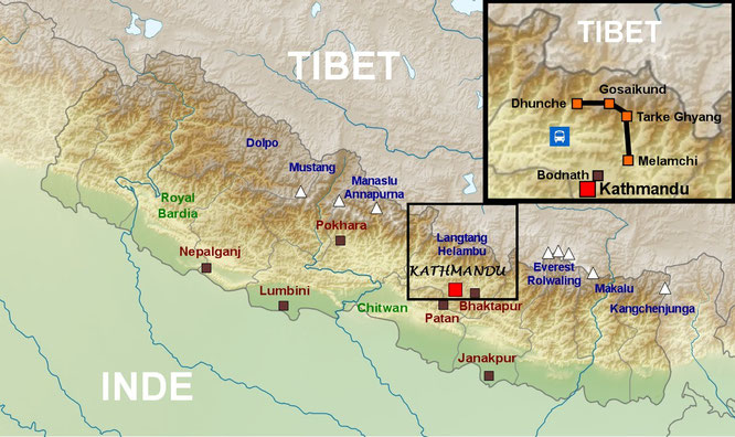 map of langtang - plan langtang