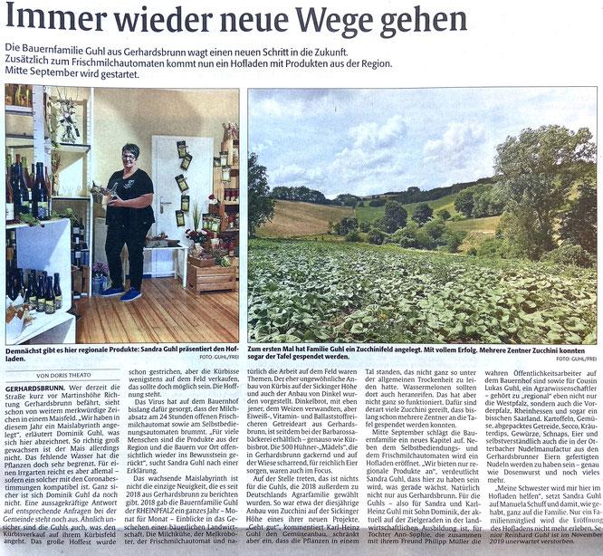2020: Hofladen, Maislabyrinth und Kürbiszeit