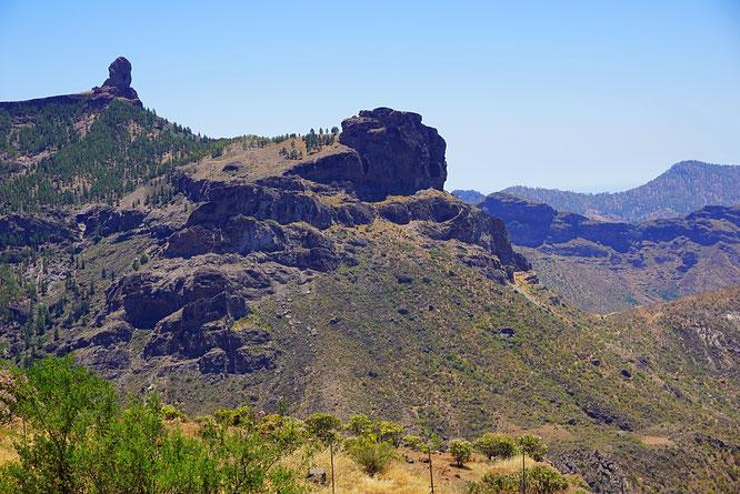 Der Roque Nublo links oben, Gran Canaria