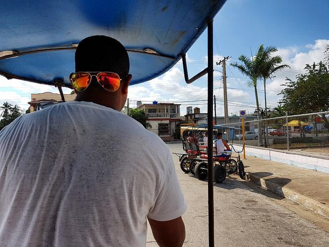 Mit dem Tuk Tuk unterwegs in Camagüey