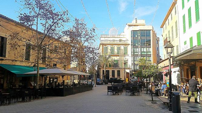 Manacor, Fußgängerzone. Cafés und Restaurants, Mallorca