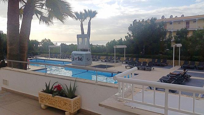 Mallorca, Hotel; terrasse, Meer, Magaluf