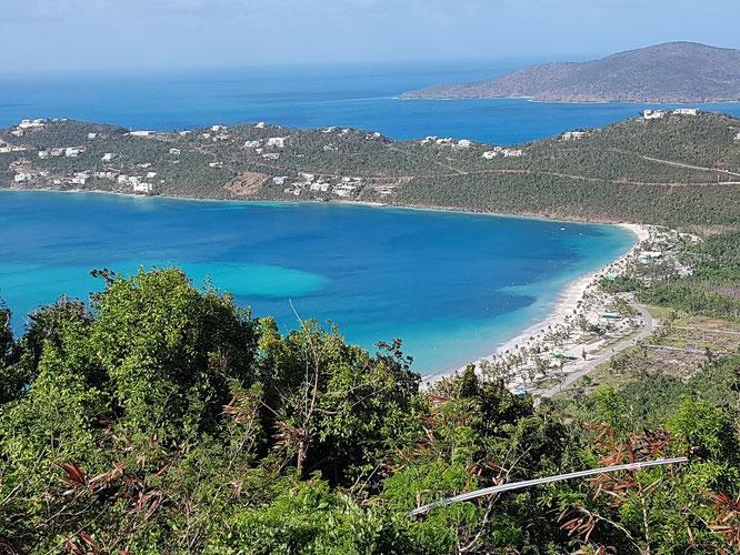 Die fantastische Aussicht von Drake's Seat, amerikanische Jungferninseln