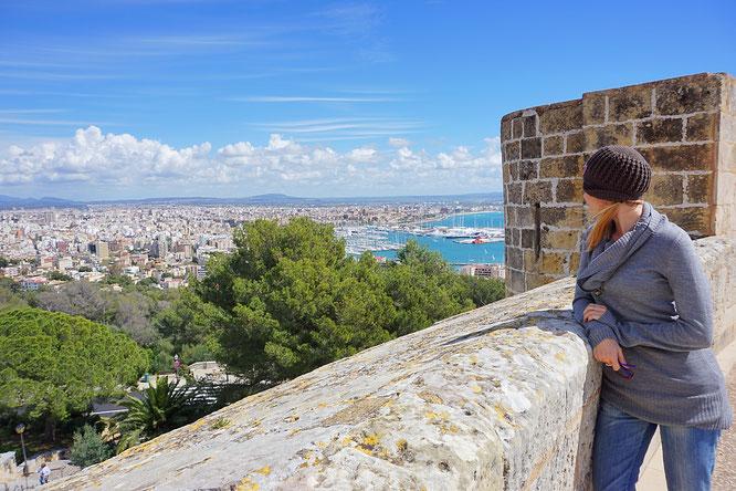 die Aussicht nach Palma de Mallorca, Castell de Bellver