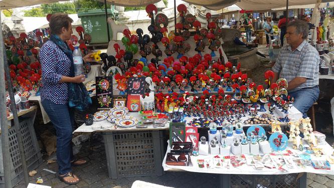 Porzellanhahn, Hahn, Barcelos, Mercado de Barcelos
