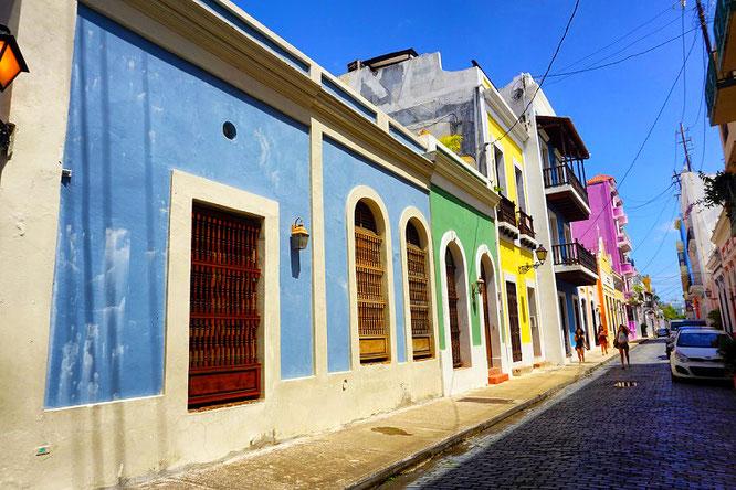 San Juan mit seinen bunt schillernden Hauswänden